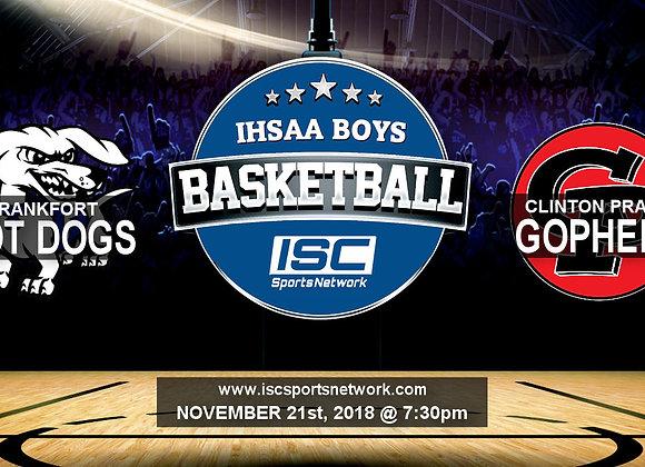 11/21/2018 Frankfort at Clinton Prairie - Boys Basketball