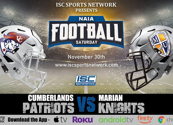 11/30/19 Cumberlands vs Marian - NAIA College Football