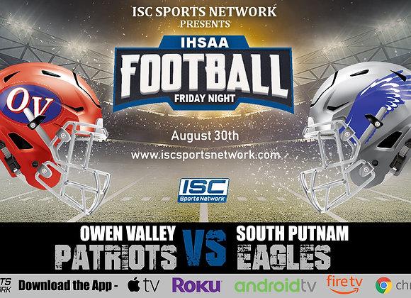 8/30/19 Owen Valley at South Putnam - IHSAA Football