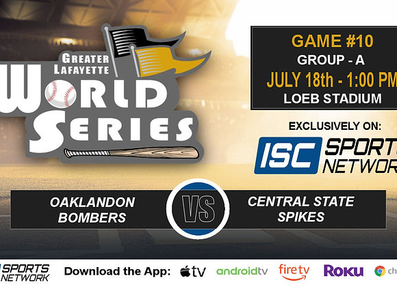 GM10 - Oaklandon Bombers vs Central State Spikes - 2019 GLWS