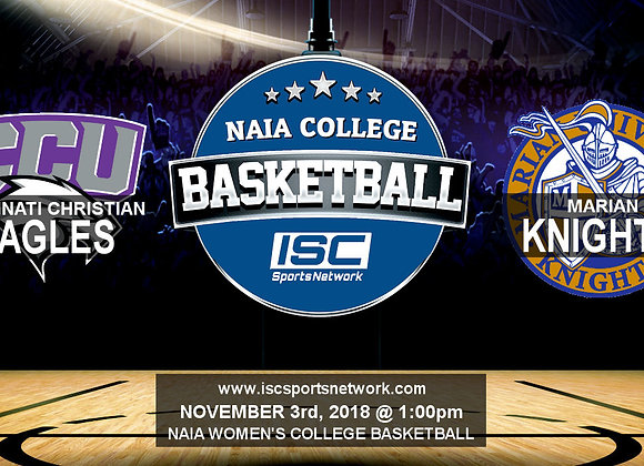 Cincinnati Christian at Marian University - Women's Basketball