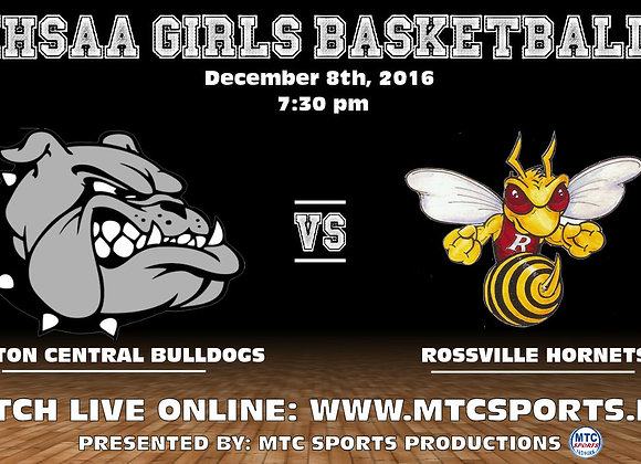 12/8/16 Clinton Central vs Rossville - GBB