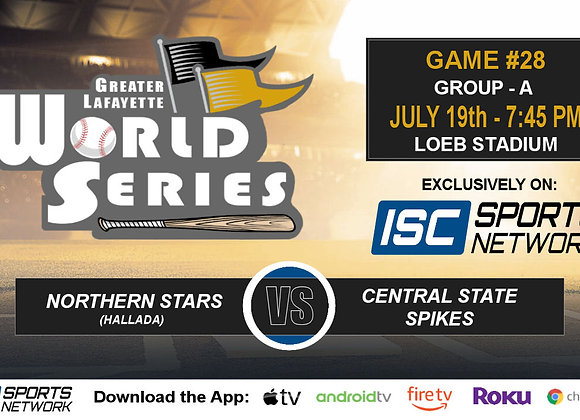GM28 - Northern Stars (Hallada) vs Central State Spikes - 2019 GLWS