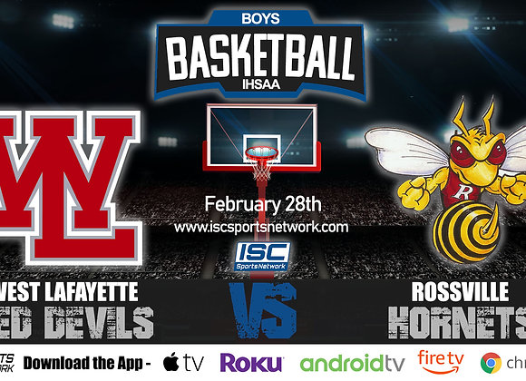 2/28/2020 West Lafayette vs Rossville - IHSAA Boys Basketball