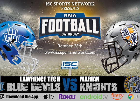 10/26/19 Lawrence Tech vs Marian - NAIA College Football
