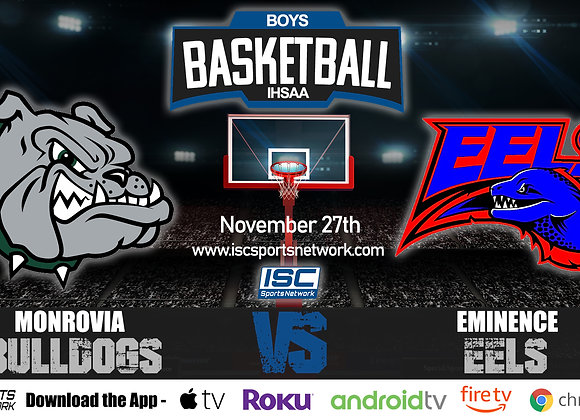 11/27/19 Monrovia Bulldogs vs Eminence Eels