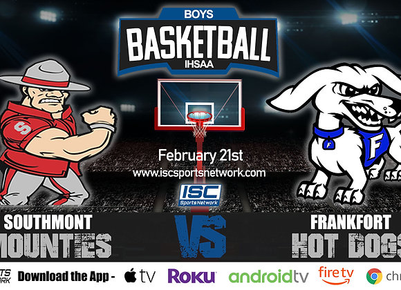 2/21/2020 Southmont vs Frankfort - IHSAA Boys Basketball
