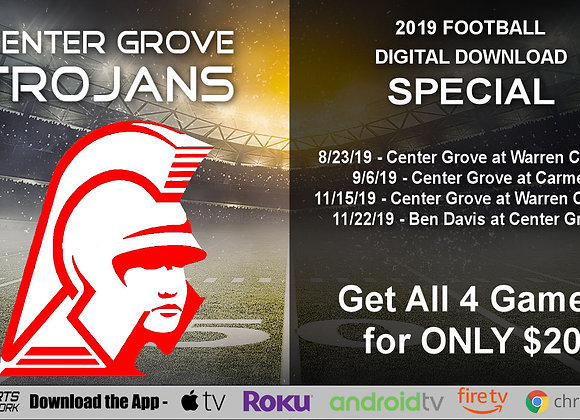 Center Grove Trojans - 2019 IHSAA Football (Digital Downloads)