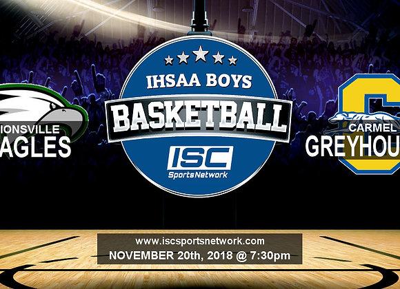 11/20/2018 Zionsville at Carmel - Boys Basketball