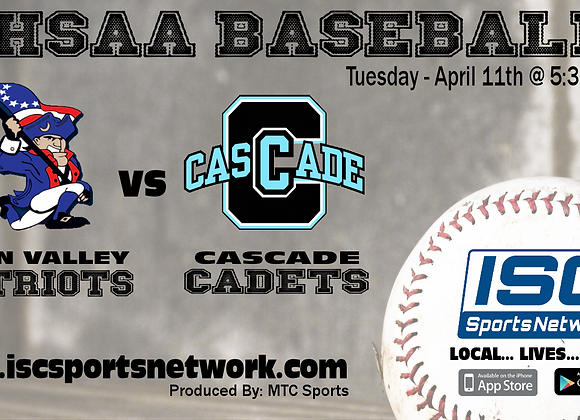 4/11/17 Owen Valley at Cascade - IHSAA Baseball