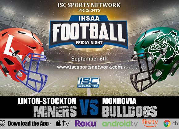 9/6/2019 Linton-Stockton at Monrovia - IHSAA Football