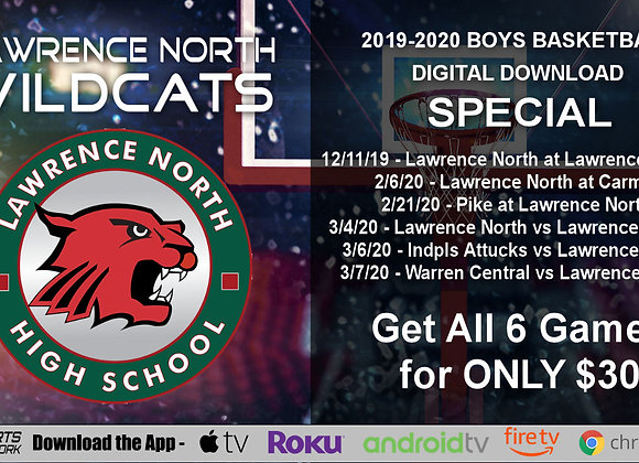 2019-20 Lawrence North Wildcats Boys BBall (Digital Downloads)
