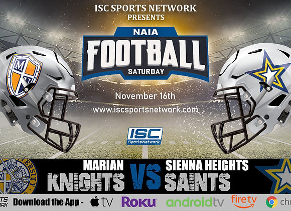 11/16/19 Marian vs Siena Heights - NAIA College Football