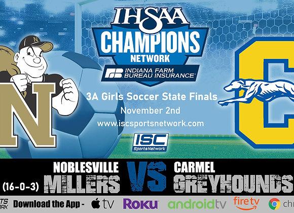 11/2/19 Noblesville vs Carmel - 3A IHSAA Girls Soccer State Finals