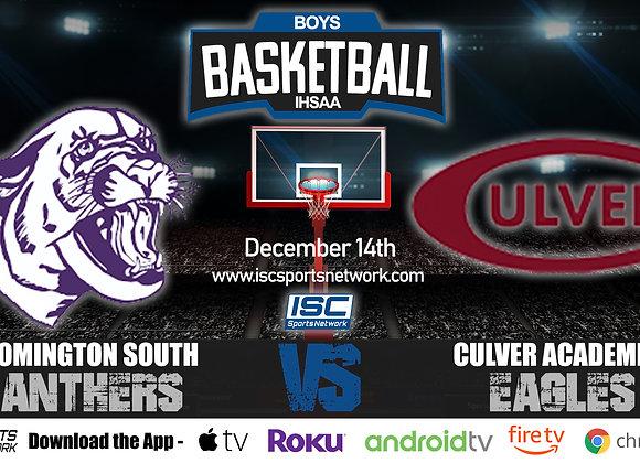 12/14/20 Bloomington South vs Culver Academy - IHSAA BoysBasketball