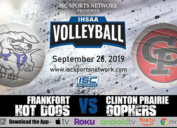 9/26/19 Frankfort at Clinton Prairie - IHSAA Volleyball