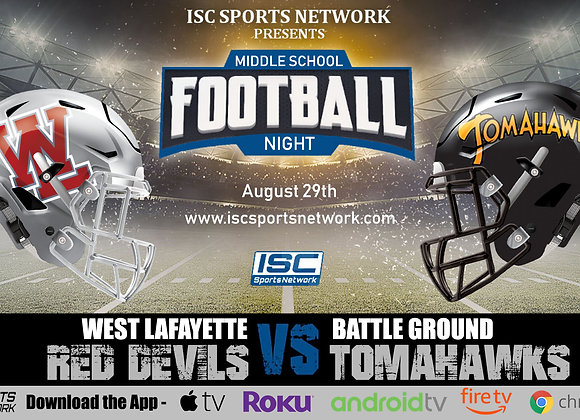 8/29/19 West Lafayette at Battle Ground - Middle School Football
