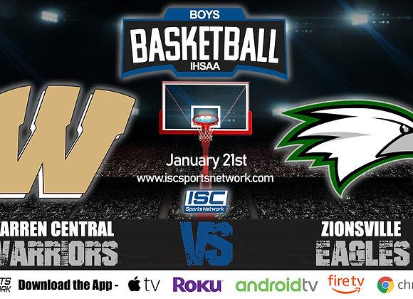 1/21/20 Warren Central vs Zionsville - IHSAA Boys Basketball