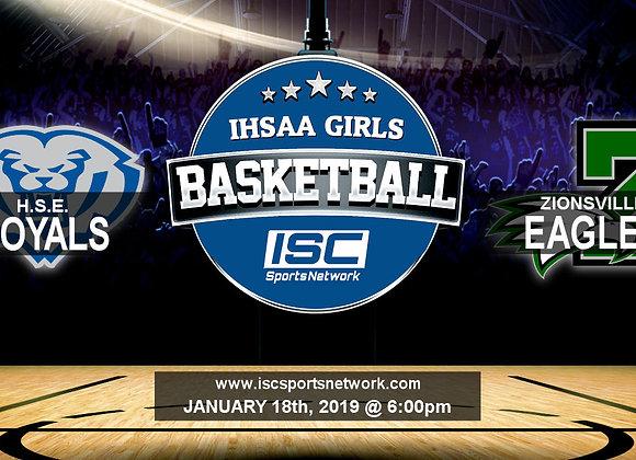 1/18/19 HSE vs Zionsville - IHSAA Girls Basketball