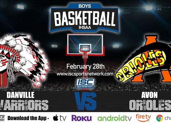 2/28/2020 Danville vs Avon - IHSAA Boys Basketball