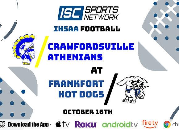 10/16/20 Crawfordsville at Frankfort - IHSAA FB
