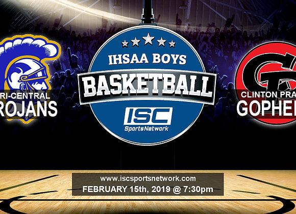 2/15/19 Tri-Central vs Clinton Prairie - IHSAA Boys Basketball
