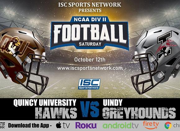10/12/19 Quincy vs UIndy - NCAA Div II College Football
