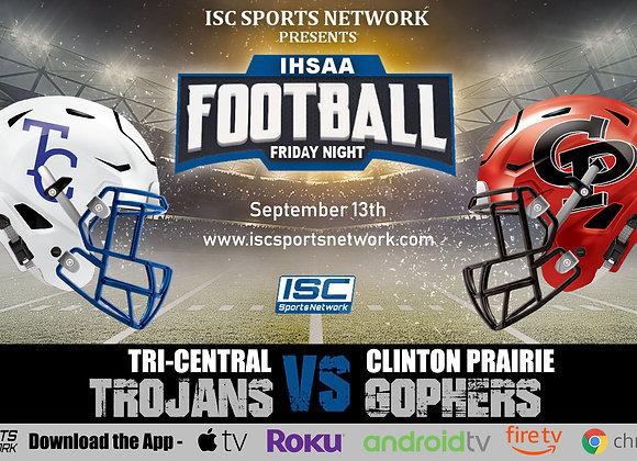 9/13/19 Tri-Central at Clinton Prairie - IHSAA Football