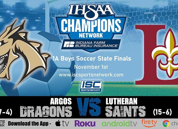 11/1/19 Argos vs Lutheran - 1A IHSAA Boys Soccer State Finals