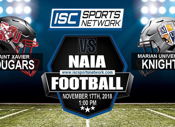 Saint Xavier at Marian University - NAIA Playoff Game