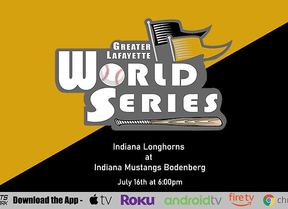7/16/2020 Indiana Longhorns vs Indiana Mustangs (Bodenberg) - Game P9 (14U)