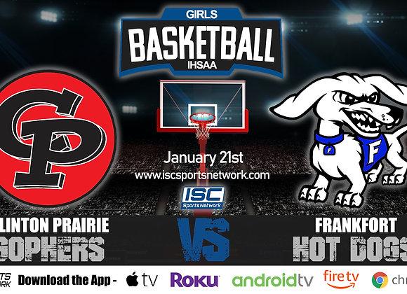 1/21/20 Clinton Prairie vs Frankfort - IHSAA Girls Basketball