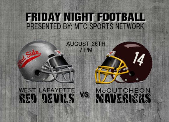 8/26/16 West Lafayette vs McCutcheon - FB