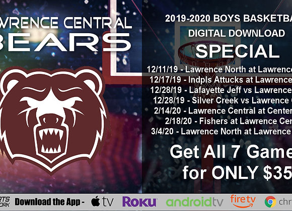 2019-20 Lawrence Central Bears Boys BBall (Digital Downloads)