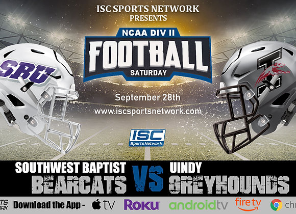 9/28/19 Southwest Baptist at UIndy - NCAA Div II College Football