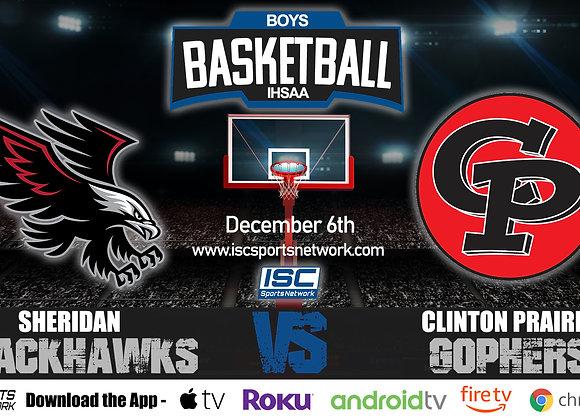 12/6/2019 Sheridan at Clinton Prairie – IHSAA Boys Basketball