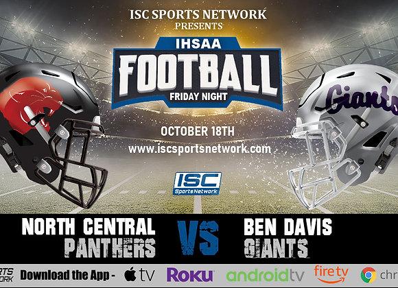 10/18/19 North Central at Ben Davis - IHSAA Football