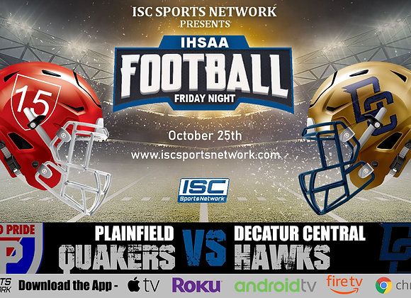 10/25/19 Plainfield at Decatur Central - IHSAA Football