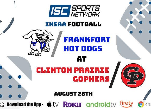 8/28/2020 Frankfort at Clinton Prairie - IHSAA FB