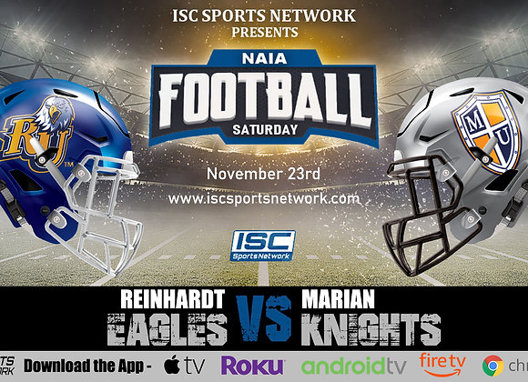 11/23/19 Reinhardt vs Marian - NAIA College Football