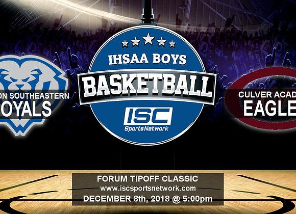12/8/2018 H.S.E. vs Culver Academy - Boys Basketball