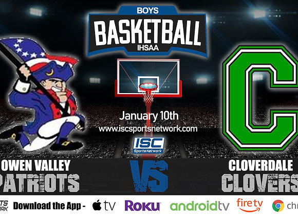 1/10/20 Owen Valley at Cloverdale – IHSAA Boys Basketball