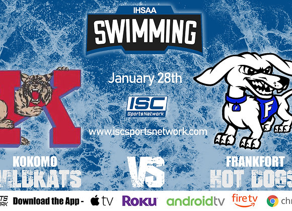 1/28/20 Kokomo vs Frankfort - IHSAA Swimming