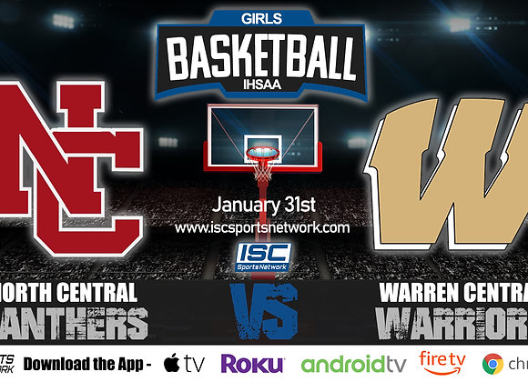 1/31/20 North Central vs Warren Central - IHSAA Girls Basketball