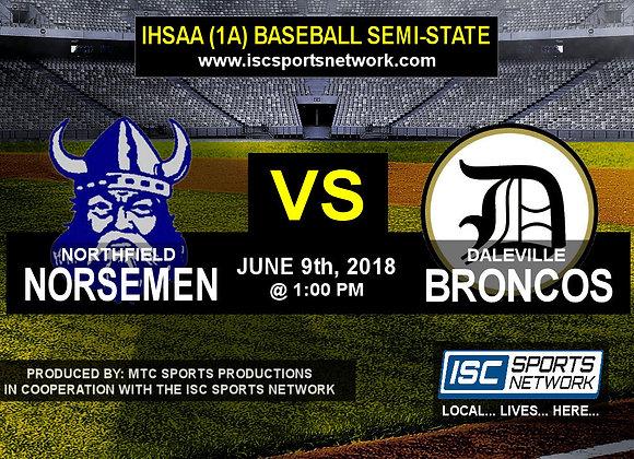 Northfield vs Daleville - IHSAA Baseball