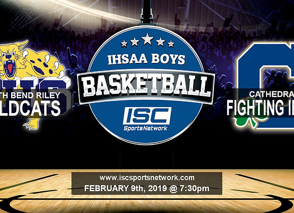2/9/19 South Bend Riley vs Cathedral - IHSAA Boys Basketball