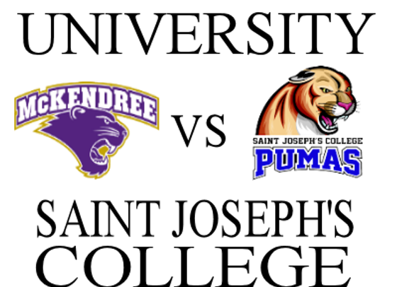 1/24 McKendree Univ vs Saint Joseph's - W