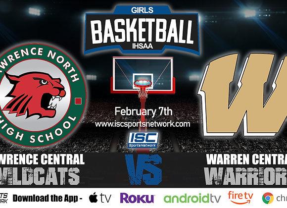 2/7/2020 Lawrence North vs Warren Central - IHSAA Girls Basketball