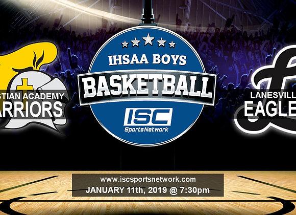 1/11/19 Christian Academy vs Lanesville - IHSAA Boys Basketball