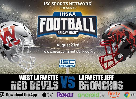 8/23/19 West Lafayette at Lafayette Jeff - IHSAA Football